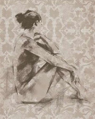 Figure with Damask I Digital Print by Harper, Ethan,Impressionism