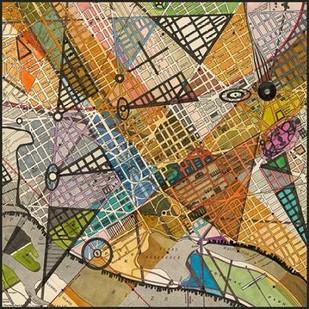 Modern Map of D.C. Digital Print by Galapon, Nikki,Geometrical