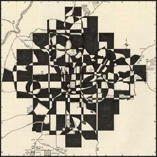 Modern Map of Atlanta Digital Print by Galapon, Nikki,Geometrical