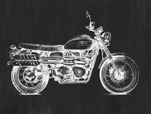 Motorcycle Graphic II Digital Print by Meagher, Megan,Decorative