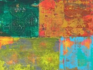 Colorful Leaf Imprint II Digital Print by Ray, Elena,Abstract