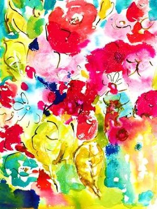 Flower Array I Digital Print by Minasian, Julia,Decorative