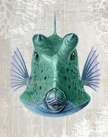 Cowfish Digital Print by Fab Funky,Realism