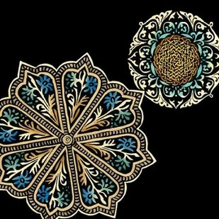 Midnight Rosette III Digital Print by Zarris, Chariklia,Decorative