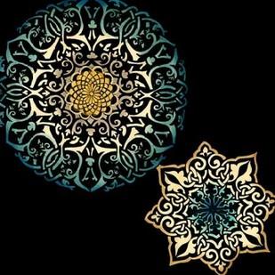Midnight Rosette IV Digital Print by Zarris, Chariklia,Decorative