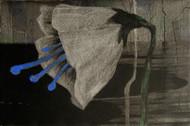 Hope by Sulakshana Dharmadhikari, Expressionism Painting, Acrylic on Canvas, Grey color