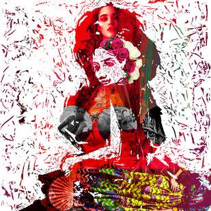 Love, Fashion and more - I by Sayak Mitra, Digital Digital Art, Digital Print on Archival Paper, Pink color