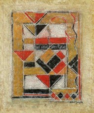 Untitled by Akkitham Narayanan, Abstract Painting, Oil on Canvas, Beige color