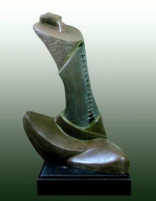 Morning by Subrata Paul, Decorative Sculpture | 3D, Bronze, Green color