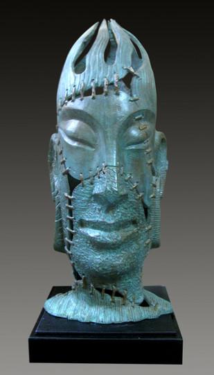 MEDITATION by Subrata Paul, Expressionism Sculpture | 3D, Bronze, Gray color