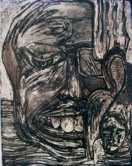 Ups and Down 9 by Pranjal Bhuyan, Decorative Printmaking, Etching and Aquatint, Gray color