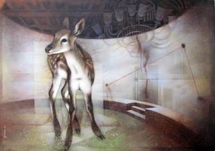 Civilization now VI, by Guru kinkar , Fantasy Painting, Acrylic on Canvas, Brown color