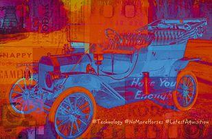 #NoMoreHorses by Sheetal S Agarwal, Digital, Pop Art Digital Art, Digital Print on Archival Paper, Red color
