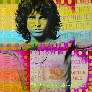 #Rockstar by Sheetal S Agarwal, Digital, Pop Art Digital Art, Digital Print on Archival Paper, Brown color