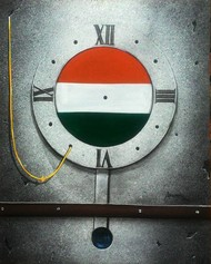 the timeless journey of india by anupam pal, Expressionism Painting, Acrylic on Canvas, Gray color