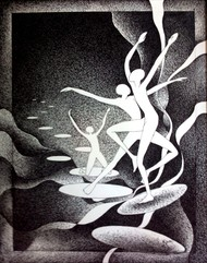 celebration of success by Reena Tomar, Illustration Drawing, Pen & Ink on Canvas, Gray color