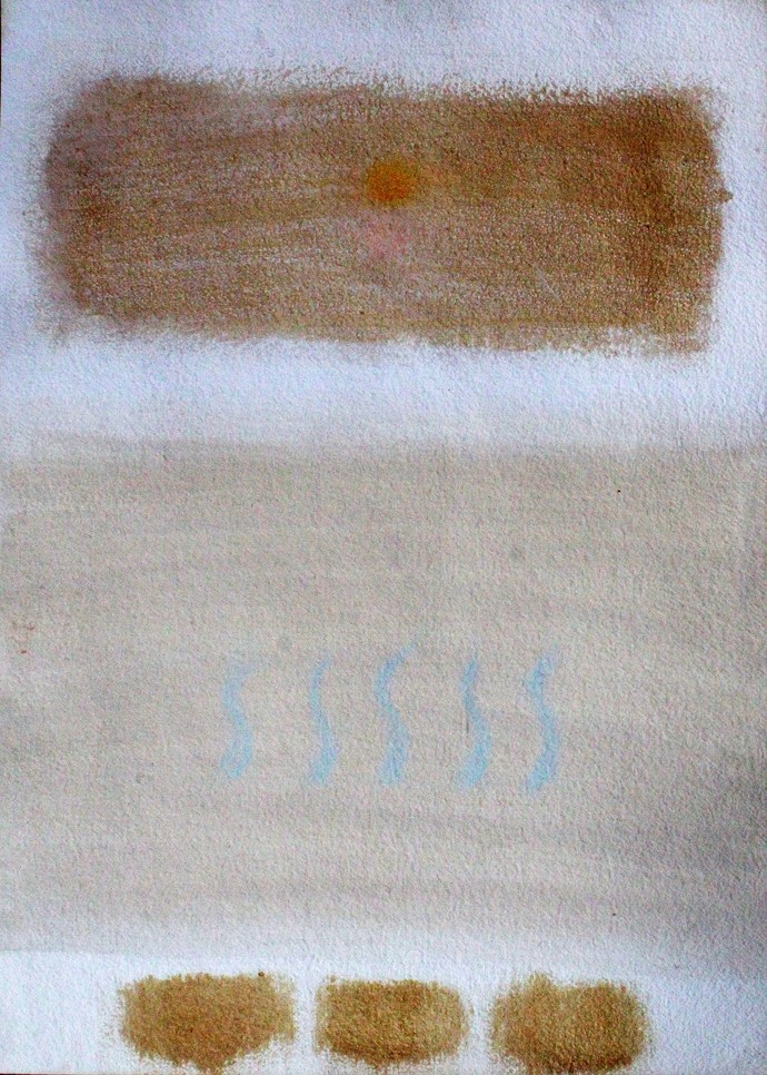 Brown and brown by Bhaskar Hande, Abstract Painting, Acrylic on Paper, Gray color