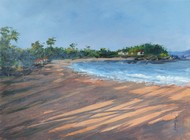 Konkan-E by SIDRAM G., Impressionism Painting, Acrylic on Board, Cyan color