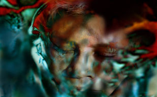 Silence in my mind-1 by Bula Bhattacharya, Image Digital Art, Digital Print on Archival Paper, Green color
