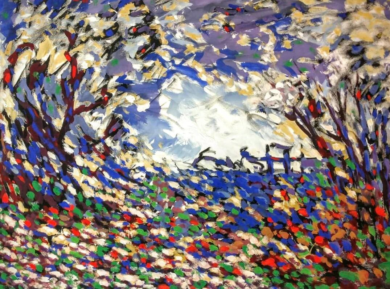 The Speaking Tree Digital Print by Zargar Zahoor,Impressionism