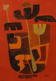 Bramhaakshar Digital Print by Salil Sakhalkar,Abstract