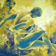 14355   sajal sarkar    untitled    oil on canvas    59.5 x 35 inch    2005    u r in english cs