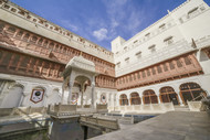 Architecture of Junagarh Fort. by Siddhant, Image Photography, Digital Print on Paper, Brown color