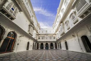 The Symmetry of Junagarh by Siddhant, Image Photography, Digital Print on Paper, Brown color