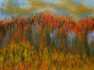 Landscape by Mahmood Ahmad, Impressionism Painting, Acrylic on Canvas, Brown color