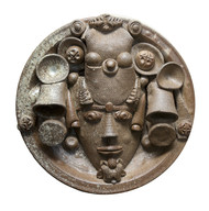 Platter-2 by Laxma Goud, Decorative Sculpture   3D, Ceramic, Brown color
