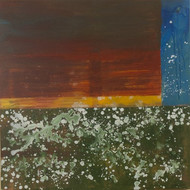 Untitled-4 by Karan Meral, Abstract Painting, Acrylic on Canvas, Brown color