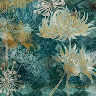 Navy Chrysanthemums I Digital Print by Woods, Maria,Expressionism