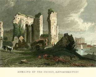 Remains of Priory, Haverford West Digital Print by Allom, T.,Realism