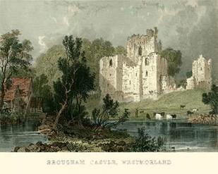 Brougham Castle, Westmoreland Digital Print by Allom, T.,Realism