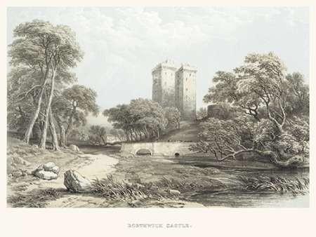 Borthwick Castle Digital Print by Unknown,Illustration