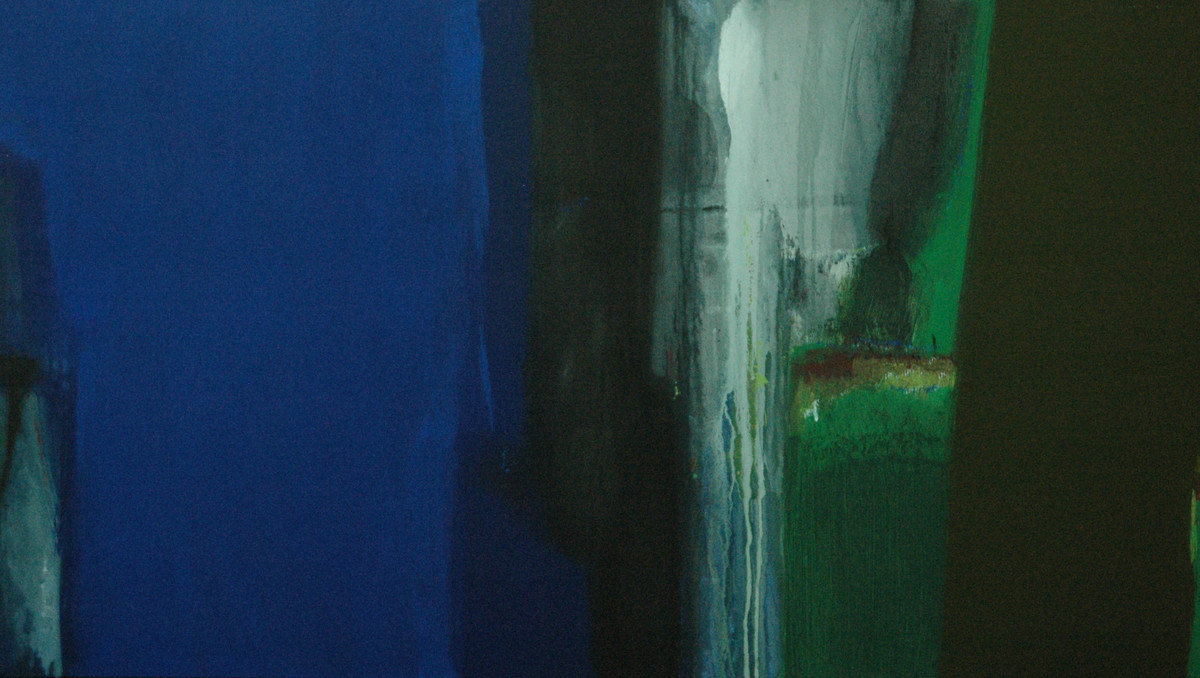 Untitiled Blue-21 by Anil Gaikwad, Abstract Painting, Acrylic on Canvas, Blue color