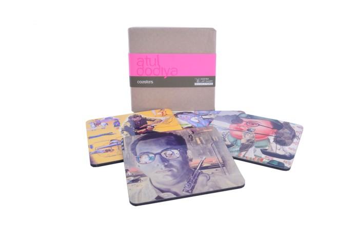 Atul Dodiya Coaster (Set of 4) Coaster Set By Vadehra Bookstore