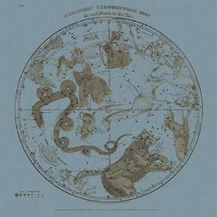Northern Circumpolar Map Digital Print by Evans, W.G.,Decorative