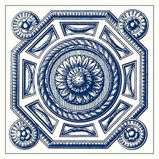 Indigo Medallion II Digital Print by Vision Studio,Decorative