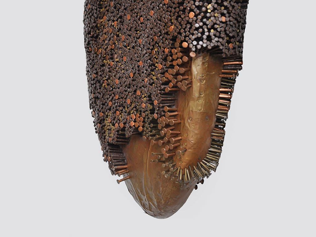 Honey comb by Janarthanan R, Conceptual Sculpture   3D, Mixed Media on Wood, Gray color