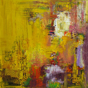 Spring by Sheetal Singh, Abstract Painting, Acrylic on Canvas, Brown color