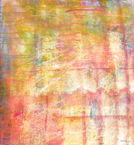 abstract 26 by Santhosh CH, Abstract Painting, Acrylic on Canvas, Yellow color