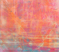 Abstract 18 by Santhosh CH, Abstract Painting, Acrylic on Canvas, Pink color