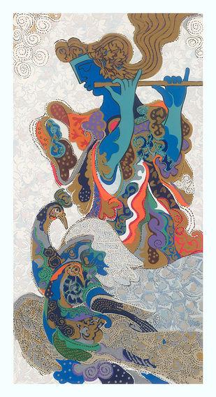 Peehu by Ravindra Salve, Fantasy Serigraph, Serigraph on Paper, Gray color