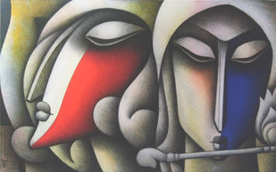 Untitled by Jagannath Paul, Decorative Painting, Acrylic on Canvas, Gray color