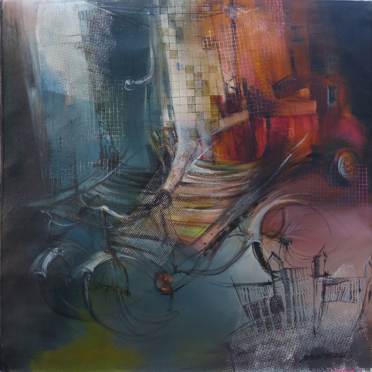 Untitled by Bharat Das, Impressionism Painting, Acrylic on Canvas, Brown color