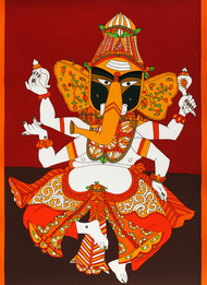 Untitled by Laxma Goud, Traditional Serigraph, Serigraph on Paper, Brown color