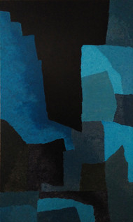 Fractal Dimensions by Jaikishan Tada, Abstract Painting, Acrylic on Canvas, Blue color