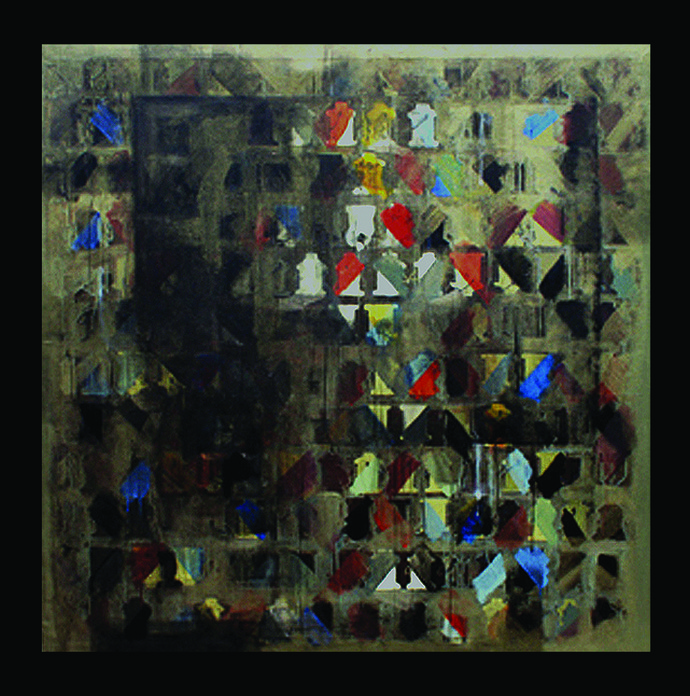 Untitled by Nivas Kanhere, Conceptual Painting, Acrylic on Canvas, Gray color