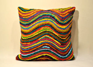 Katran Cushion : Multicolor Cushion Cover By Sahil & Sarthak